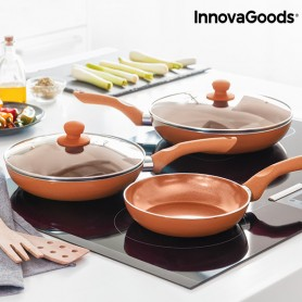 Set di Padelle Copper-Effect InnovaGoods (5 Pezzi)